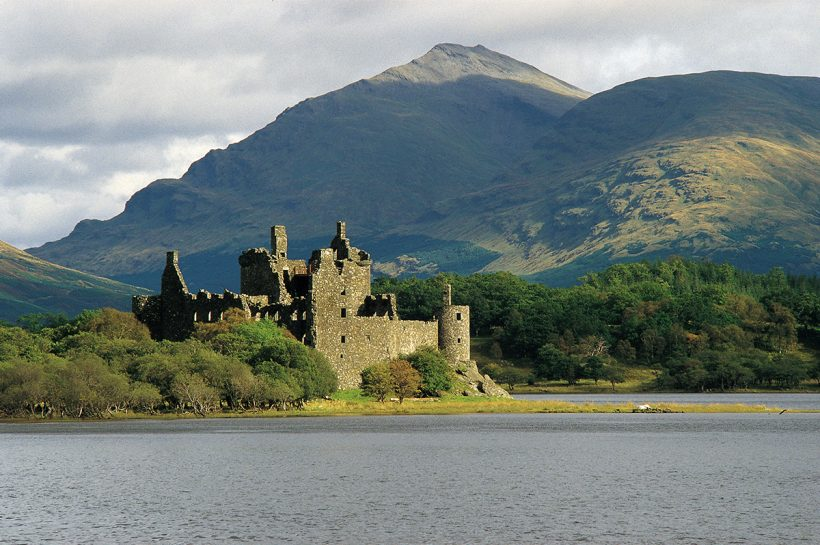LOCH AWE AND KILCHURN CASTLE, ARGYLL.
