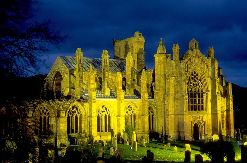 MELROSE ABBEY, SCOTTISH BORDERS.