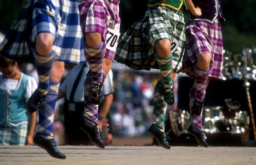 HIGHLAND DANCERS AT THE COWAL HIGHLAND GAMES.