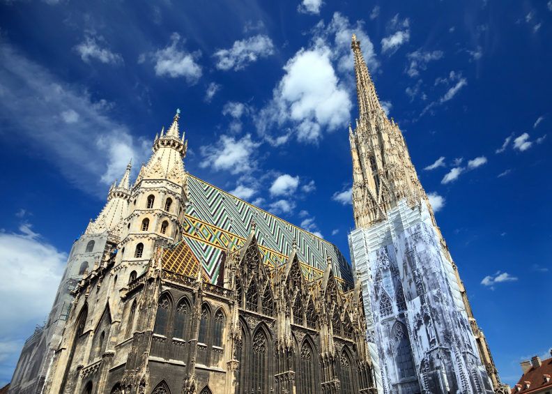 St. Stephan cathedral in Vienna, Austria, 2009
